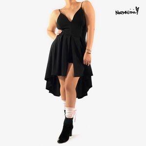 Windsor Hi Low Front Split Dress W/ Shorts NWT